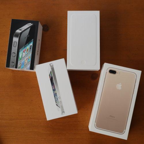 歴代iPhoneの外箱